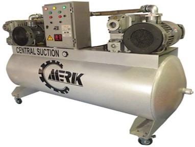 دستگاه ساکشن مرکزی مدل M-CS-1000H/160V طرح دوبلکس و تک پمپ